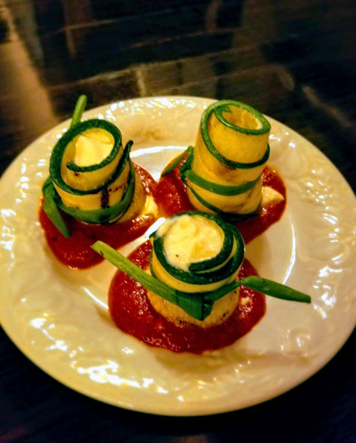 Ricotta Zucchini Rolls