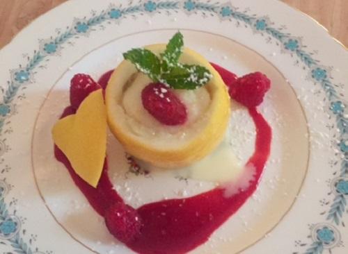 Italian Lemon Yogurt Sorbet<br />With Limoncello Flavored Raspberry Sauce